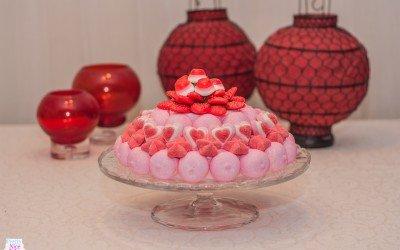 Dulce tarta rosa