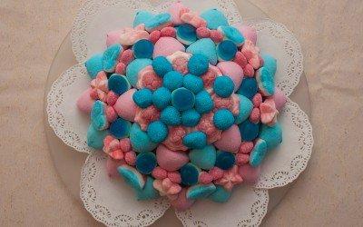 Colorida tarta de 2 pisos y Ø25cm
